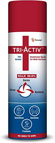 Tri Activ 70 Alcohol Based Disinfectant Spray for Multi Surfaces 230 ml