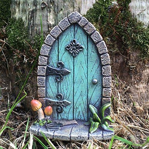 Miniatur-Elfen-/Feentür–Gartenbaumdekoration– lustige Geschenkfigur, H: 9 cm