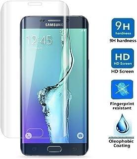 REY Protector de Pantalla Curvo para Samsung Galaxy S6 Edge Plus, Transparente, Cristal Vidrio Templado Premium, 3D / 4D / 5D