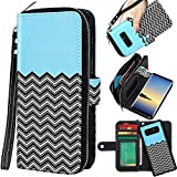 E LV Purse Case for Samsung Galaxy Note 8 [Cards Slot Pocket], Flip [PU Leather] Case Folio Wallet Purse Protective Magnetic-Closer Case Cover for Galaxy Note 8 [Zigzag]