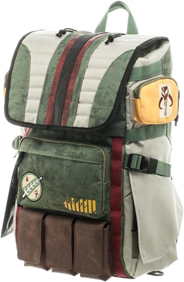5. Star Wars Boba Fett Mandalorian Suit Up Laptop Backpack