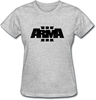 ZHENGXING Women's Arma 3 Logo Short Sleeve T-Shirt XXL ColorName