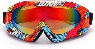 FAgdsyigao Unisex Outdoor Winter Goggles Motorcycle Ski Goggle Windproof Eye Protective Glasses Eyewear Color Stripe