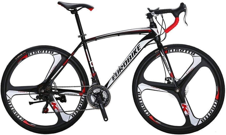 Extrbici Road Bike 21 Speed 3Spoke Wheels Dual Disc Brake Bicycle,XC550 700Cx28C Solid Integrated Wheel (White)