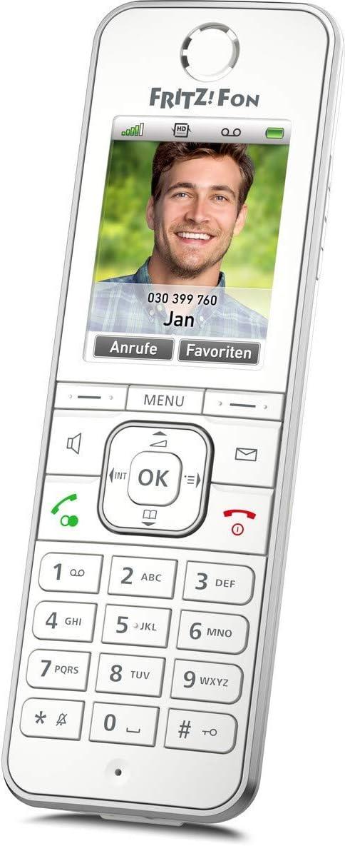 AVM FRITZ!Fon C6 DECT-Komforttelefon (hochwertiges Farbdisplay, HD-Telefonie, Internet-/Komfortdienste, Steuerung FRITZ!Box-Funktionen) weiß,…
