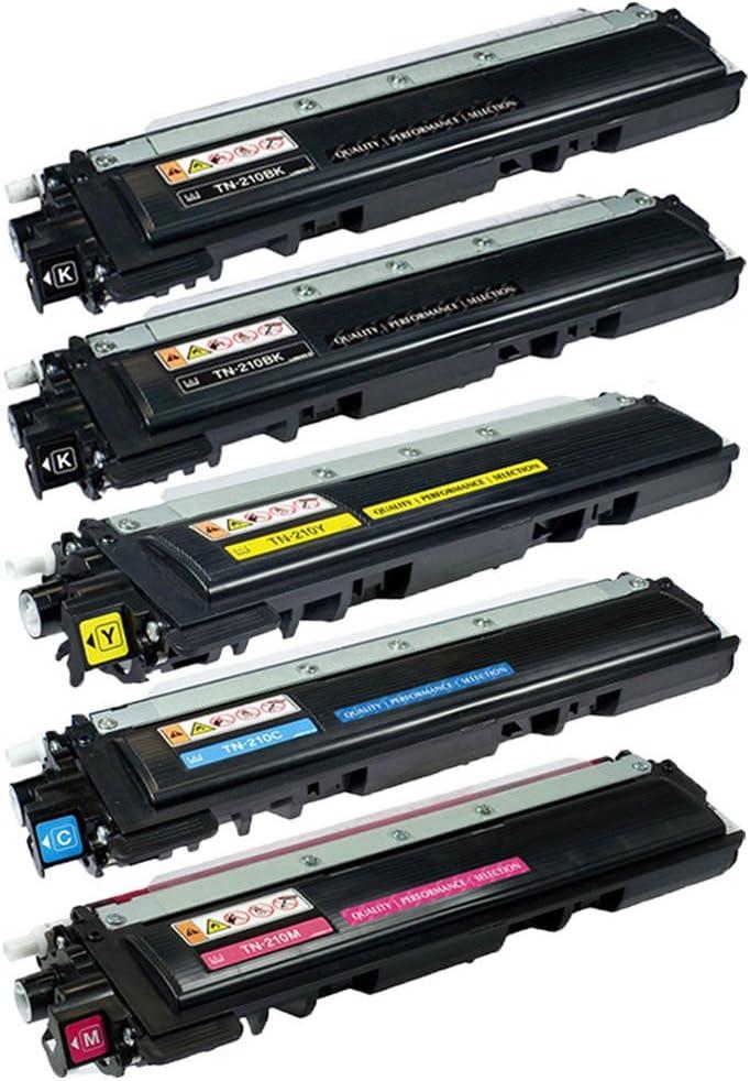 2-Pack: Black AM-Ink Compatible TN210 Toner Cartridge Brother HL-3040CN HL-3045CN HL-3070CW HL-3075CW MFC-9010CN MFC-9120CN MFC-9125CN MFC-9320CW MFC-9325CW Series Printer.