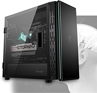MSI Creator 400M Black Mid Tower Tempered Glass PC Gaming Case