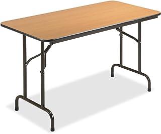 Lorell 65759 Folding Table, 48-Inch x24-Inch x29-Inch, Mahogany