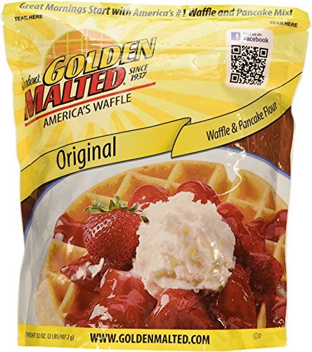 Carbon's Golden Malted Pancake & Waffle Flour Mix, Original, 32-Ounces