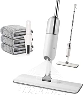 Microfiber Spray Mop for Floor Cleaning - AUSELECT - Mop for Home Kitchen Wood Tile Laminate Ceramic Floor Cleaning Tool w...