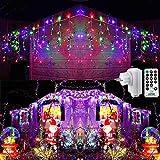 Geemoo Cortina Luces Navidad Exterior, 9M 360 LED Guirnaldas