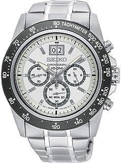 Seiko Men's Lord 43.3mm Steel Bracelet & Case Quartz White Dial Watch SPC241P1