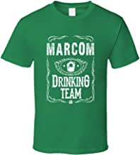 Marcom Irish Drinking Team Whiskey Beer Custom Name St Patricks Day T Shirt