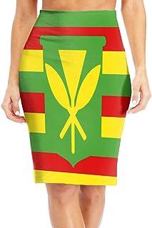 173ce20746 Kanaka Maoli Native Hawaiian Flag Women s Casual High Waist Bodycon Pencil  Skirts Printed Party Skirt