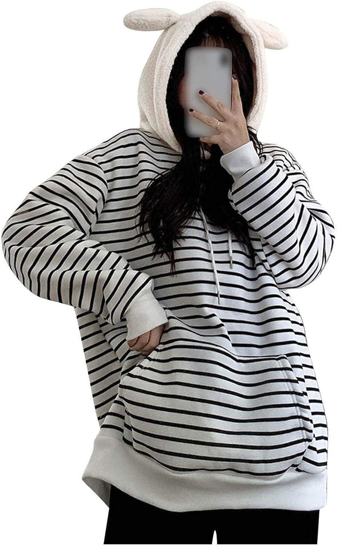 Fleece Sweatshirts for Women Long Sleeve Pullover Hoodies Cute B