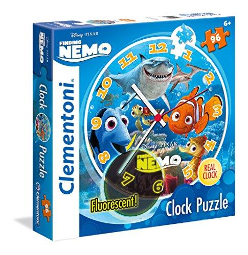 Disney - Puzzle, 96 Piezas, diseño Clock Buscando a Nemo (Clementoni 230228)