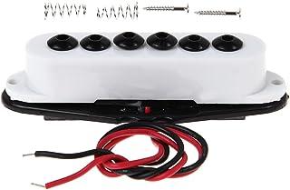 Kmise MI0346 1 x Guitar Single Coil Pickup Neck for Strat Invader Type, White