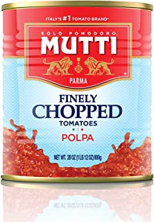 Mutti — 28 oz. 6 Pack of Finely Chopped Tomatoes from Italy's #1 Tomato Brand. Adds fresh taste to recipes ...