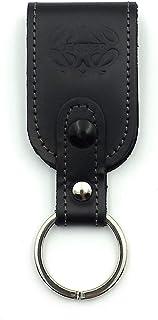 franartPiel - Llavero en Piel Ubrique para cinturón - Alta Calidad (Negro)