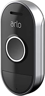 Arlo Technologies Smart Audio Doorbell Wire-Free, Smart Home Security and Weather-Resistant (AAD1001-100AUS), Black