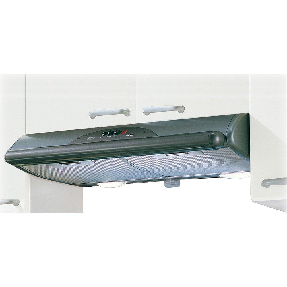 Mepamsa Mito Jet 90 Campana aspirante decorativa de pared, color gris metal, 40 W, 66 Decibelios, 2 Velocidades: Amazon.es: Grandes electrodomésticos