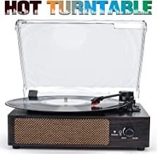 Turntable Record Player Wireless Portable LP Belt-Drive 3-Speed Turntable with Built in Stereo Speakers Vinyl Record Player