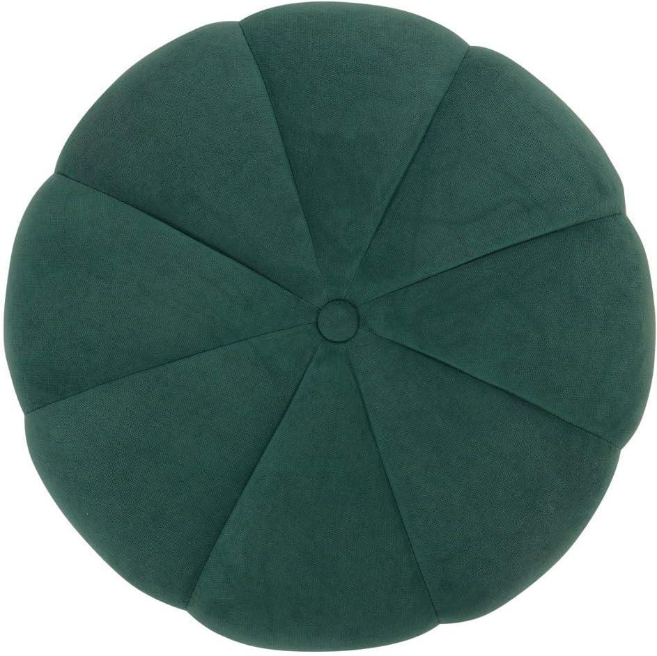 ZHTY Tabouret Rond en Lin de Coton Salon Chambre à Coucher tabourets de Citrouille Chaise Mignonne pour Enfants Green