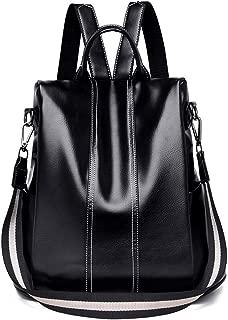 Women Girls Backpack Waterproof PU Leather Anti-theft Rucksack Fashion Shoulder School Bag