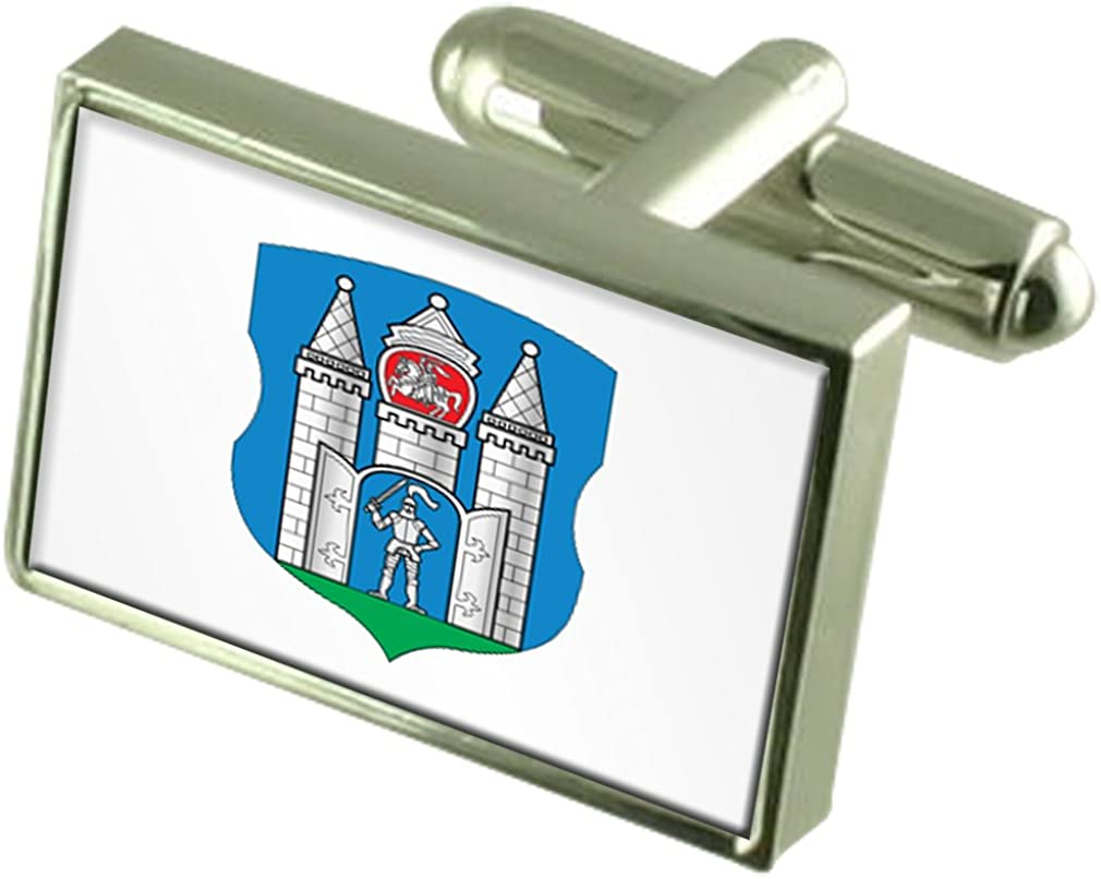 Select Gifts 2021new shipping free Mogilev Challenge the lowest price City Belarus Box Engraved Cufflinks Flag
