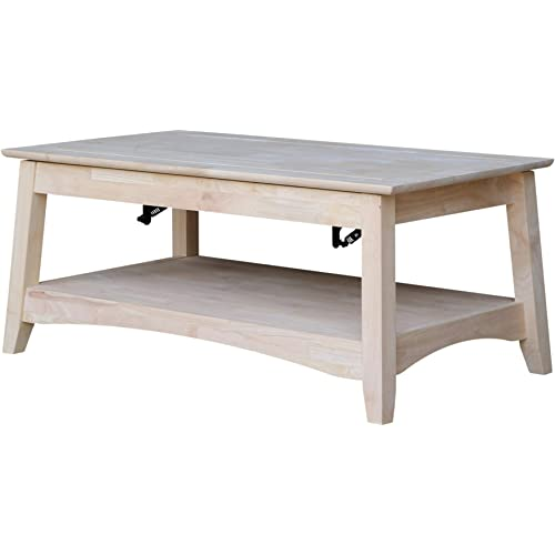 Amazon Com International Concepts Bombay Tall Coffee Table Unfinished Furniture Decor