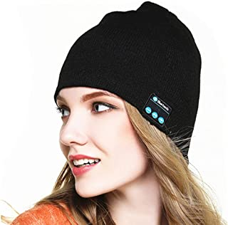 ACJENY Wireless Headset Bluetooth Beanie Music Hat Outdoor Premium Knit Music Cap for Autumn Winter Fitness Sport