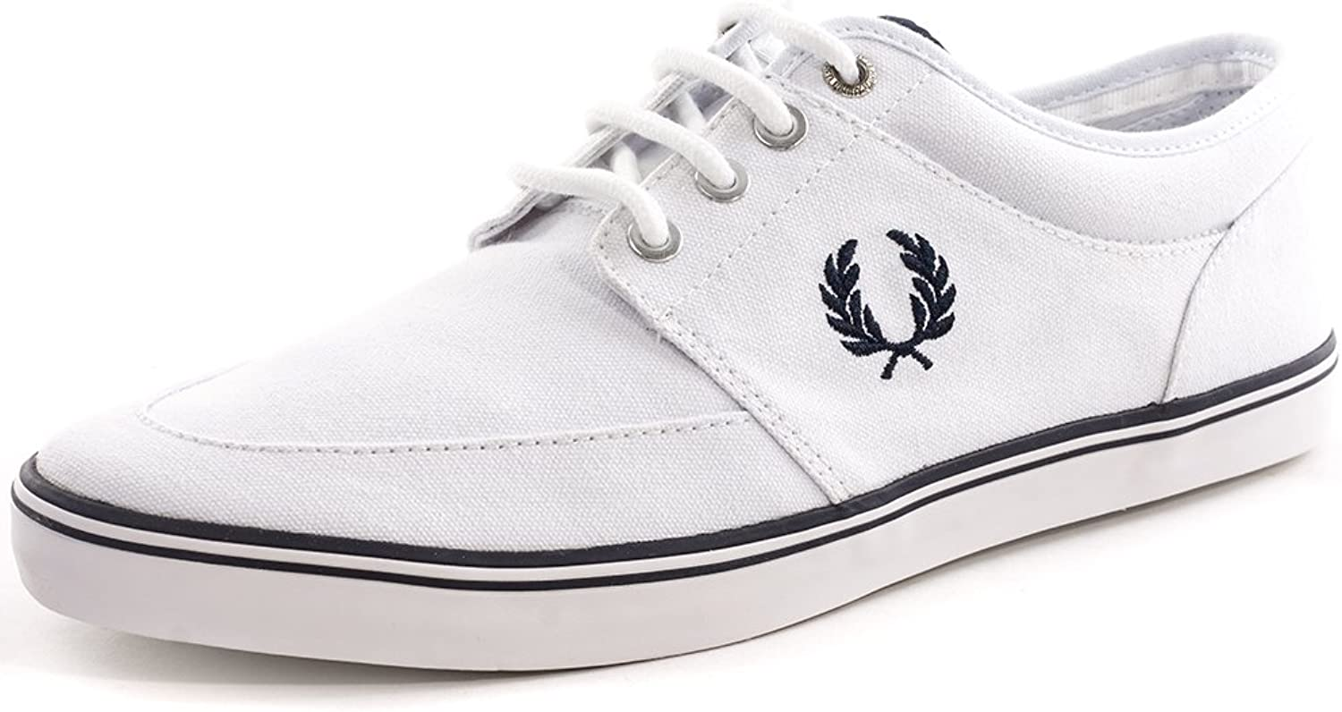 Fred Perry Stratford Mens Canvas Trainers White - 11 UK