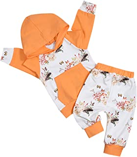 bilison Baby Girl Clothes Long Sleeve Fox Hoodie Top and Pants Outfit with Kangaroo Pocket