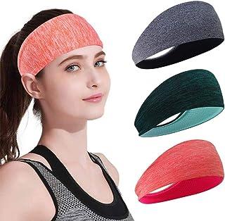 Taktik Sports Headbands for Women Elastic Non-Slip Hair Bands Running Sports Travel Fitness Yoga Workout Head Wraps for Me...