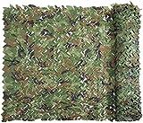 FEIJUN Netificación De Camuflaje, Rollo De Camuflaje A Granel, Redes Militares Liviana Duradera, para Decoración De Sombra De Sol Cazador De Caza(Size:1.5 x 6 M = 5 X 20 FT,Color:Bosque)