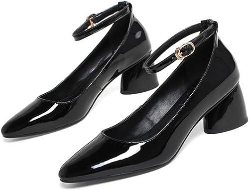 FLYSXP Talons Hauts pour Femmes Talons Hauts Peu Profonds Profonds Talons Hauts rétro Talons Hauts Travail de la Mode Chaussures de Travail Chaussures de Sport Chaussures 34-39 Verges Chaussures Femme  vente d'usine en ligne discount