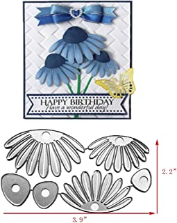 Daisy Flower Metal Cutting Dies Alinacrafts Scrapbooking Card Making Die Cuts Thanksgiving Christmas Craft Dies (#10)