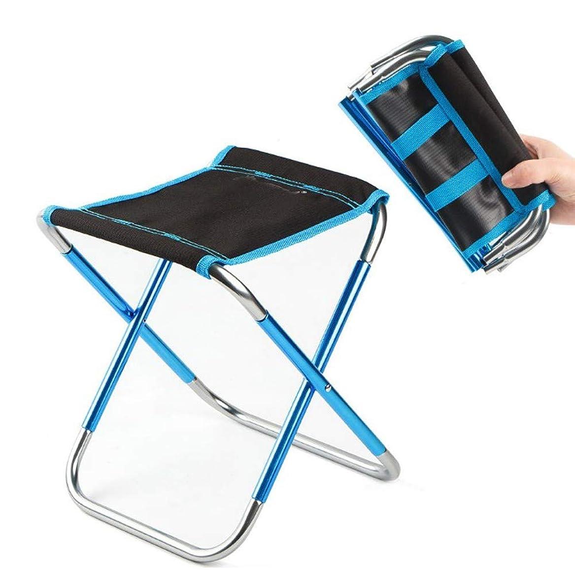 保持混合厚くする屋外折りたたみスツール7075アルミ合金釣り椅子バーベキュースツール折りたたみ椅子ポータブル鉄道馬キャンプチェア(Color:B)