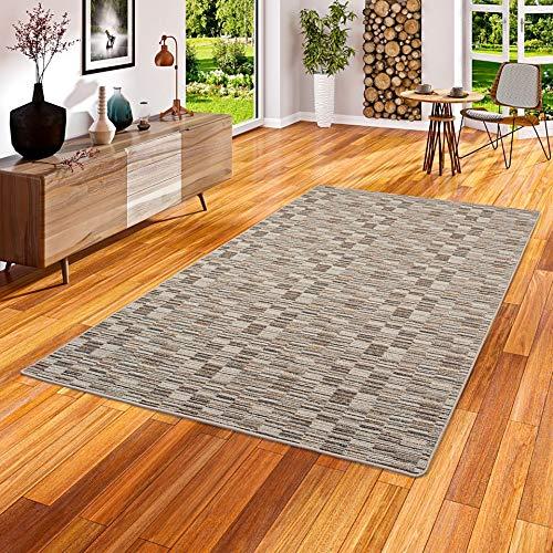 Snapstyle Streifenberber Teppich Modern Stripes Beige in 24 Größen