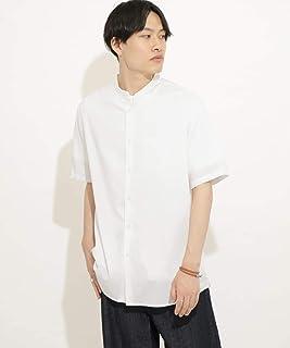 [センスオブプレイス] ワイシャツ バンドカラーシャツ(5分袖) メンズ AA05-13C022
