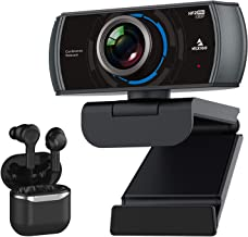 60FPS 1080P Webcam with Wireless Earbuds, NexiGo FHD USB Web Camera with Dual Microphone, 120 Degrees Wide-Angle, Active N...