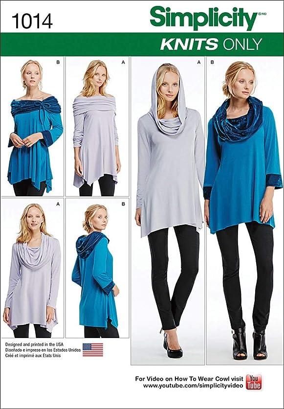Simplicity Creative Patterns US1014A Misses Knit Tunics, Size A (XXS-XS-S-M-L-XL-XXL) plcl20360
