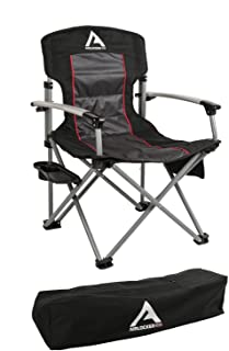 ARB 10500111A Camping Chair Incl. Extruded Aluminum Armrests/Locking Catches/Drink Holder Side Tray/Side Pocket/Magazine Pocket/Carry Bag Camping Chair