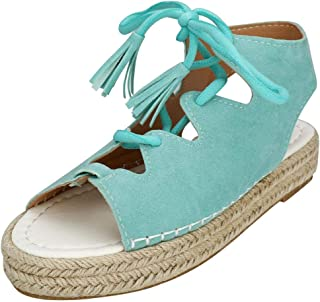 YYW Womens Platform Sandals Espadrille High Platform Wedge Sandals Open Peep Toe Ankle Strap Buckle Shoes