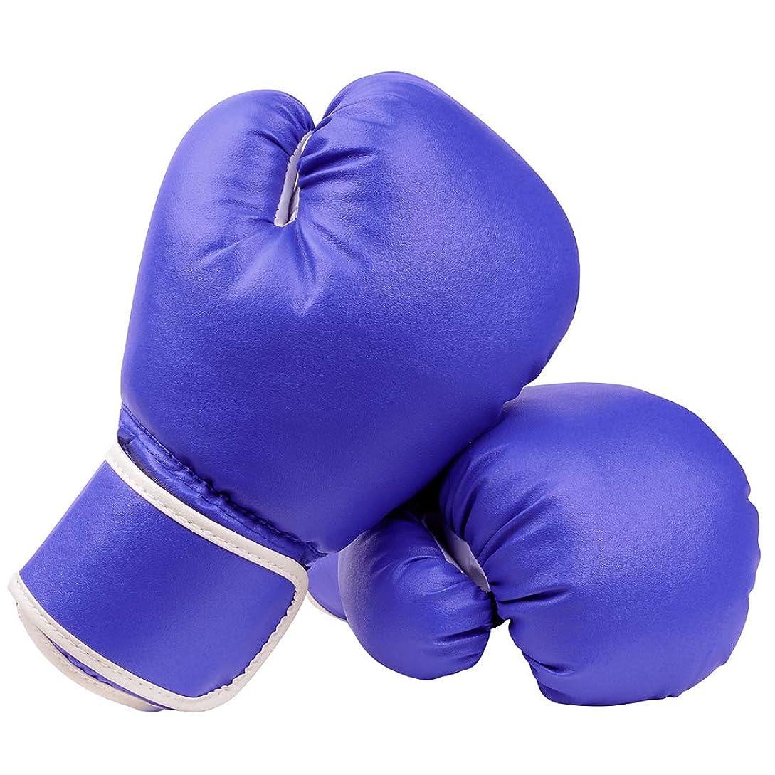 区別短くするおんどりAnsley&HosHo ボクシンググローブ ジュニア トレーニング パンチンググローブ 左右セット格闘技 空手 ミット練習用 PUレザー 子供用