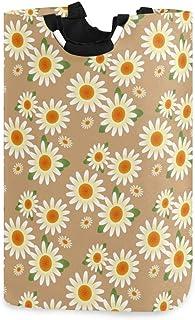 N\A Panier à Linge, Fleur de Marguerite paniers de Rangement pour Linge vêtements Pliables Sac Organisateur de Jouets pour...