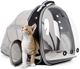 halinfer Back Expandable Cat Backpack Carrier, Space Capsule Transparent Bubble Pet Carrier for Small Dog, Pet Carrying Hi...