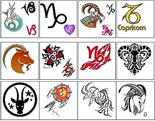 Capricorn Zodiac Collection (Capricorn Temporary Tattoos)