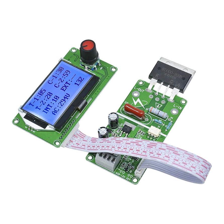 過去確保するこれらDiyStudio LCDスクリーンスポット溶接機モジュール100Aデジタル液晶ダブルパルスエンコーダスポット溶接機時間制御盤