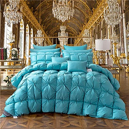 Cactuso Piumino Estivo Una Piazza e Mezza,100% ganzing Down Duvet Solid Luxury Trapunte Quilt Quilt King Queen Full Size Duvet Inverno Duvet-200x230cm 3.5kg_D.